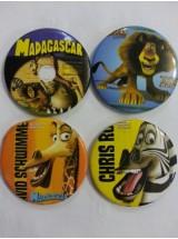 Мадагаскар- големи значки-10броя