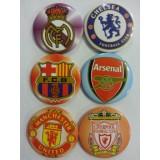 Футболни отбори- големи значки- 10броя