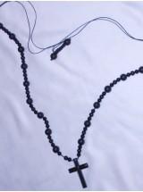 Мъжки гердан от Матиран Оникс-10мм с кръст от Хематит