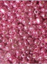 Стъклени мъниста- розов металик-4мм-50грама