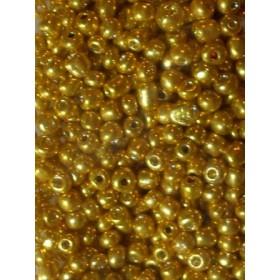 Стъклени мъниста- златни-4мм-50грама