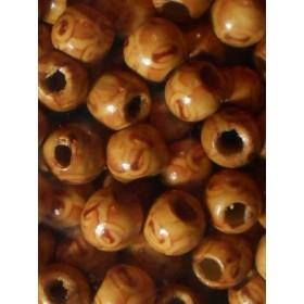 Дървени топки декорирани- 12мм-50грама