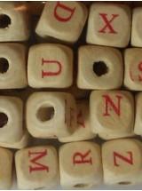 Дървени квадратчета с азбуката- 10мм-25грама