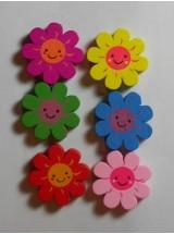 Слънчогледи различни цветове- 12мм-10броя