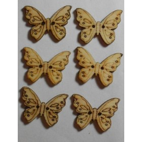 Дървени пеперудки- 10-20мм-10броя