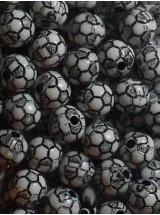 Бяла футболна топка- 10мм-50грама
