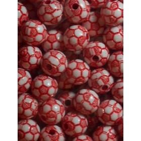 Червена футболна топка- 10мм-50грама