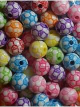 Шарена футболна топка-10мм-50грама