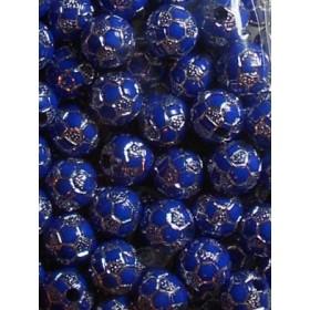 Сини топчета със сребро- 10мм-50грама