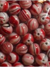 Топчета микс с бяло и червено- 8мм-25грама