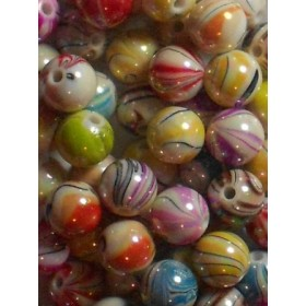 Цветни гланцирани топчета- 10мм-50грама