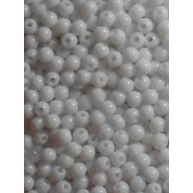 Бели плътни топчета- 4мм-50грама