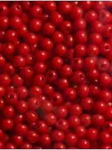 Червени плътни топчета- 4мм-50грама
