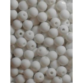 Бели плътни топчета- 6мм-50грама