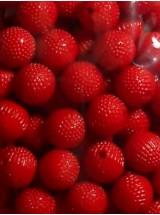 Червени плътни негладки топчета- 10мм-50грама