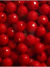 Червени плътни топчета- 8мм-50грама