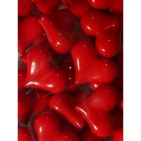 Червени плътни сърца- 25мм-50грама