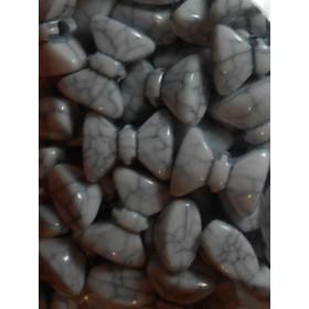 Бели плътни панделки- 14мм-50грама