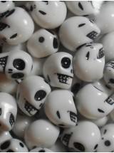 Бели черепи- 14мм-50грама