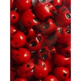 Червени черепи- 14мм-50грама