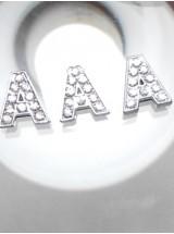 Буква А с камъчета- цена за 1брой