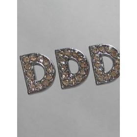 Буква-Ди с камъчета- цена за 1брой