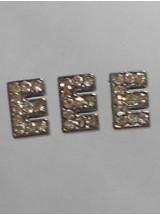 Буква-Е с камъчета- цена за 1брой