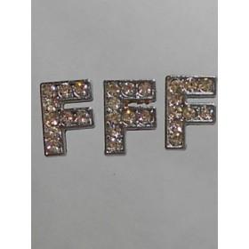Буква-ЕФ с камъчета- цена за 1брой